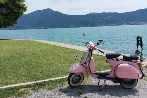 On Vespa in Moscato and Iseo Lake